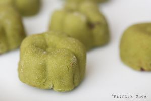 Green tea moon cake by patchow