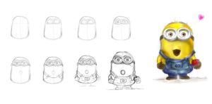 How to draw Minions ^^ by Jadetofu