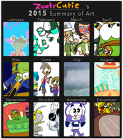 Misc: 2015 Summary of Art by ZootyCutie