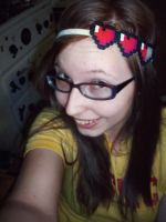 Girlfriend wearing the Zelda Heart Headband I made by coldplay3277