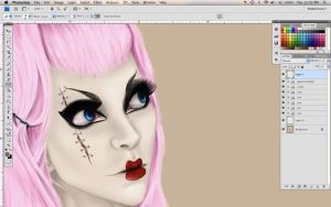 W I P  Bad Romance by Initial-Dzines