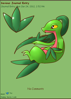 Grovyle Journal Skin by AbyssinChaos