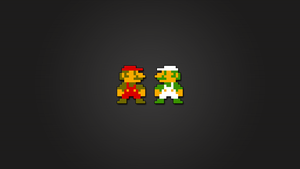 Super Mario and Luigi 8bit HD by LaChRiZ
