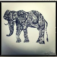 Tribal Elephant by emmanuel7