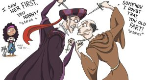 Frollo vs...Frollo?!?! by AymsterSilver