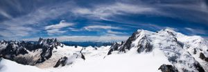 Up Mont Blanc Panorama by ChrisRollason