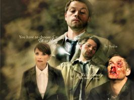 You have to choose, Castiel by Nadin7Angel