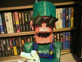 Paper Mache Luigi pic 4 of 5 by TwistedMethodDan