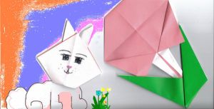 easter bunny oragami by kriona