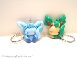 Glaceon N Leafeon by SeangelSaph