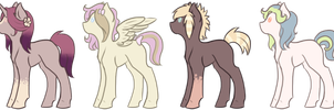 pony adoptables AUCTION #1 :CLOSED: by SamuraiAdopts