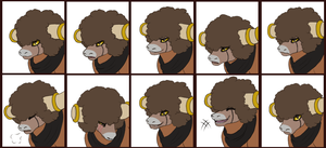 Commission - Brutus Emote Set by MiaMaha