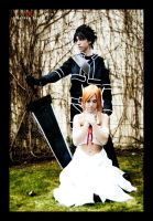 kirito and asuna ALfheim Version cosplay (SAO) by AstronSama