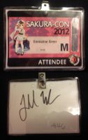 My Sakura Con Badge The Front and Back by AnimeOCD1323