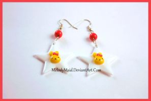 Star Bunny Earrings by MelodyMaid
