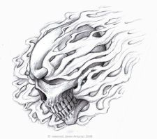 Smoker's skull by BluEHYPer