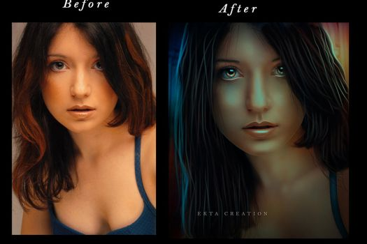 Look Into My Eyes Before After  by ektapinki
