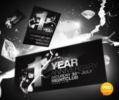Anniversary Party Flyer PSD by Party-Flyer