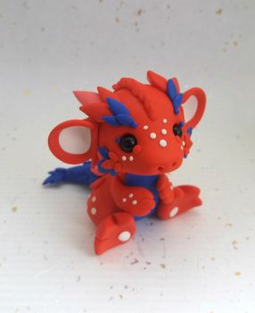 Spiky Red Dragon by Critterkins