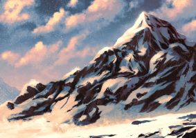 Snowy Mountain by cubehero
