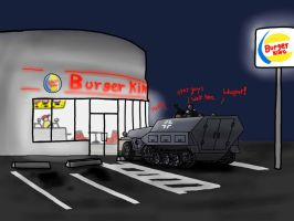 Gift: Nazis go to burger king by TheSourKraut