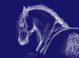 Horse Sketch by Laserbot