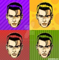 Young Johnny Depp Popart by roberlan