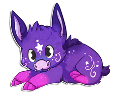 Galaxy Pig by chubird