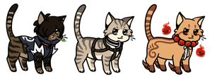 Chibi cats Adoptables 03 CLOSED by Roneri