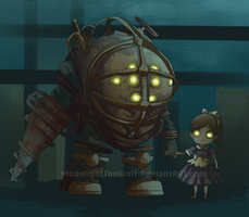 Big Daddy And Little Sister by MoonlightTheWolf