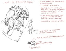 Character design notes by DanNortonArt