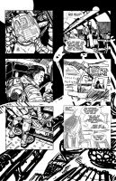 WIP Sci Fi Comic Page by mysterycycle