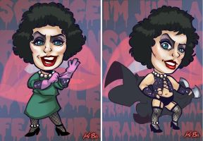 Rocky Horror Picture Show Frank N Furter Art Card by kevinbolk