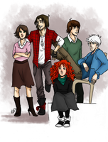 The Big Four/ The breakfast club crossover by LilyScribbles