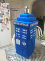 My Home Made TARDIS -view 1 Front by Therese-B