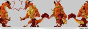 Dragon Monk Turnaround by NBQuaternion
