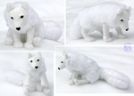 Arctic fox-plushie SOLD by IsisMasshiro