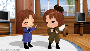 MMD Hetalia_Post them or not? by Noir74