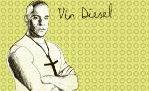 Vin Diesel and the cross by Dreamplayer