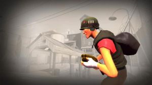 TF2 Wallpaper: Commando scout by Teammate92