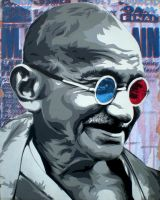 Gandhimention by STENZSKULL