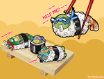 Turtles-Sushi time by saintcosevent