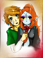 Midna and Link by Christy58ying