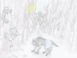 Werewolf Forest-Colored by NINJAWERETIGER
