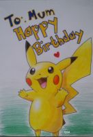 Pikachu Happy Birthday by Vongxm