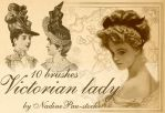 Victorian lady by NadinePau-stock