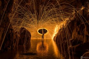 Cave Wool Spin by jmadphoto