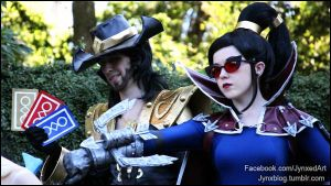 League of Legends | Vayne and Twisted Fate by Jynxed-Art