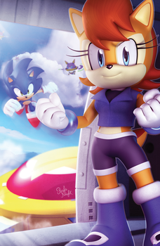 Original - Sonic The Hedgehog #258 Variant Cover by Elesis-Knight