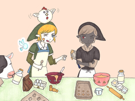 cooking competition by oscar-ojisan